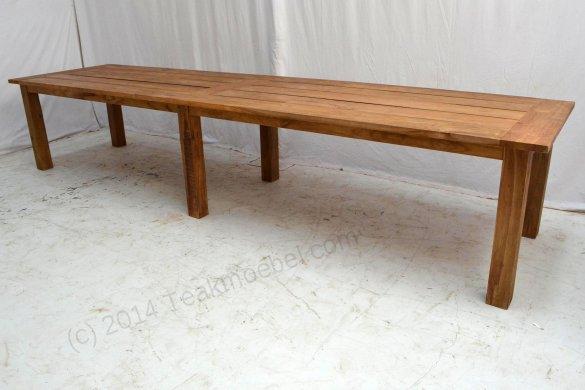 Teak garden table 400 x 100 - Picture 0