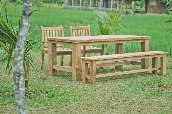 Teak garden table Mammut 250x100 - Picture 1