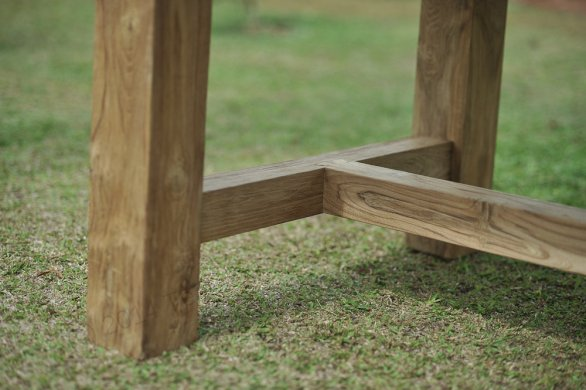 Teak garden table Mammut 250x100 - Picture 2