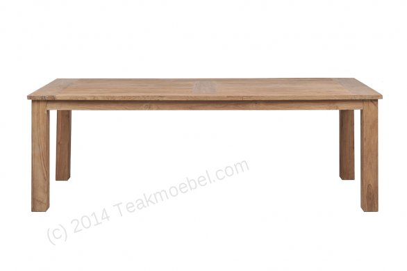 Teak garden table 260 x 100 cm - Picture 6