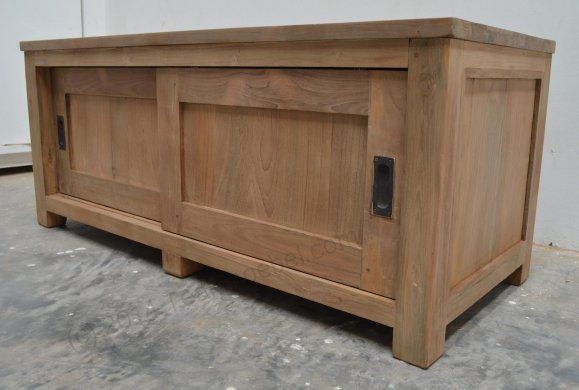 Teak tv-unit 120 x 50 x 50 cm - Picture 2