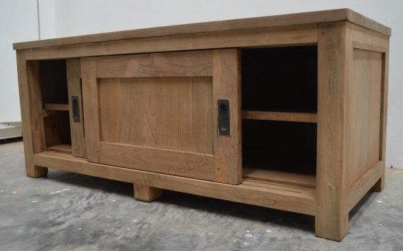 Teak tv-unit 120 x 50 x 50 cm - Picture 5