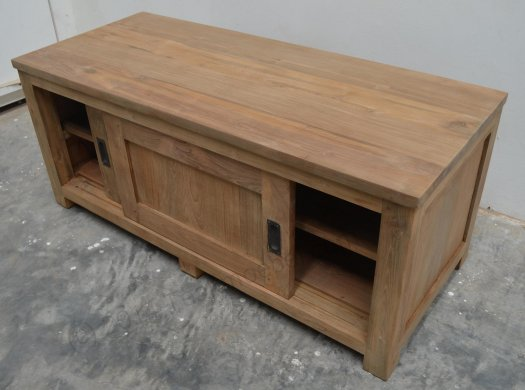 Teak tv-unit 120 x 50 x 50 cm - Picture 4