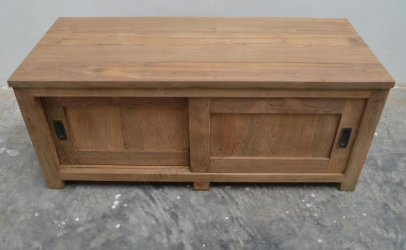 Teak tv-unit 120 x 50 x 50 cm - Picture 3