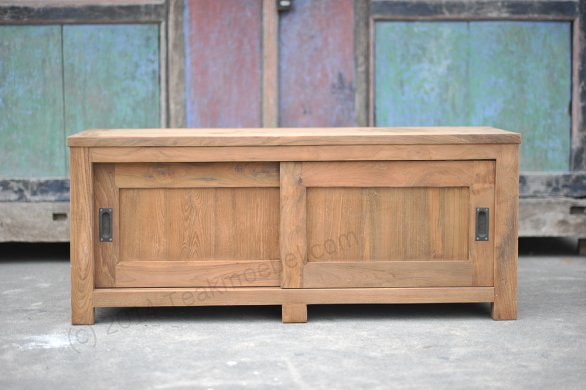 Teak tv-unit 140 x 50 x 50 cm - Picture 0