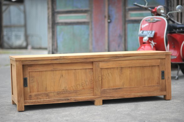Teak tv-unit 160 x 50 x 50 cm - Picture 1