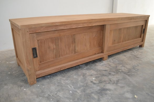 Teak tv-unit 180 x 50 x 50 cm - Picture 6