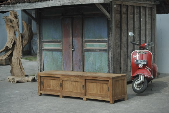 Teak tv-unit 200 x 50 x 50 cm - Picture 1