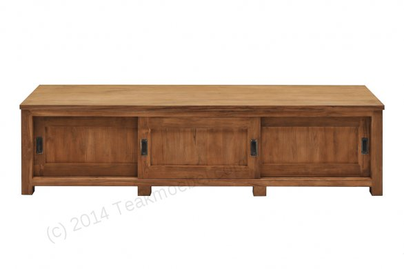 Teak tv-unit 200 x 50 x 50 cm - Picture 2