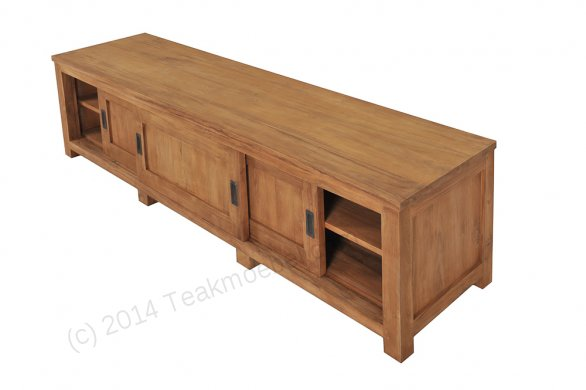 Teak tv-unit 200 x 50 x 50 cm - Picture 3