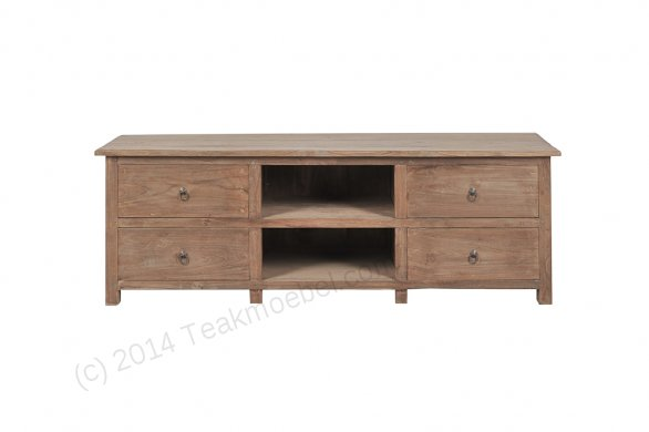 Teak tv unit 150cm Dingklik   Reclaimed Teak Furniture