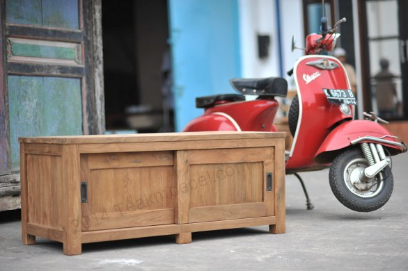 Teak tv-unit 120 x 50 x 50 cm - Picture 1