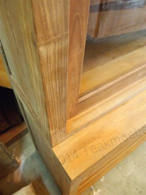 Teak display cabinet 200cm modern - Picture 7