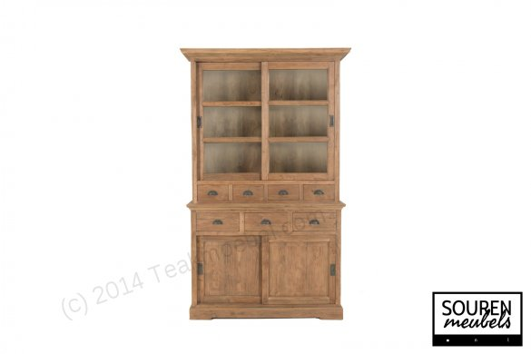 Teak display cabinet 130 dingklik - Picture 1