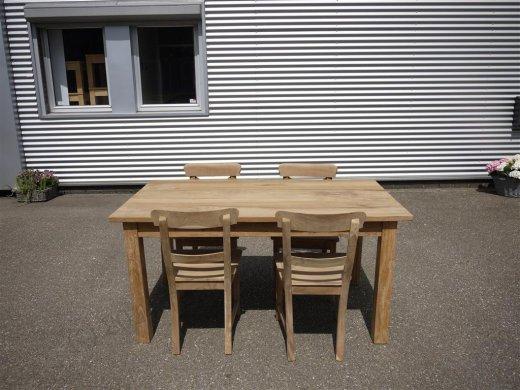 Teak table 160 x 90 cm - Picture 0