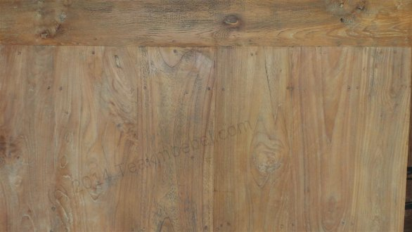 Square teak table 120x120 reclaimed - Picture 3