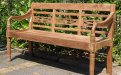 Teak station gardenbench 3-seater - Picture 0