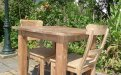 Teak table 80 x 80 cm reclaimed - Picture 10