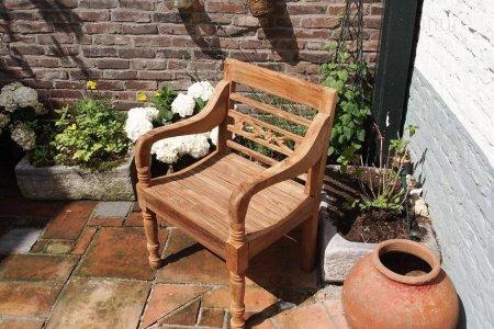 Teak station gardenchair 1-seater