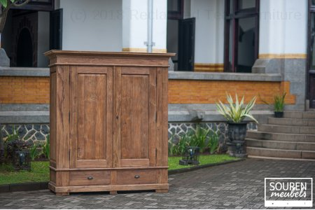 Teak wardrobe dingklik XL