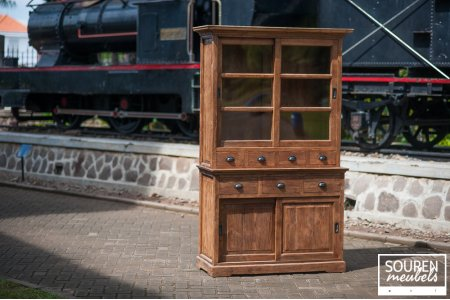Teak display cabinet 130 dingklik