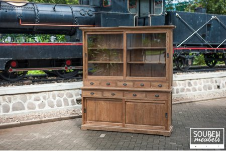 Teak display cabinet 200 dingklik