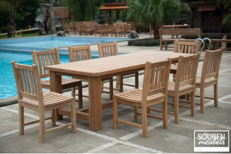 Gardentable Mammut 250 + 8 chairs Beaufort without armwrest