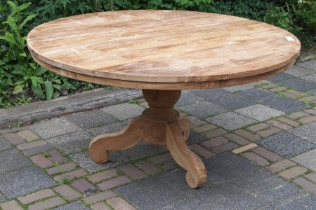 Round teak table Ø 150 cm