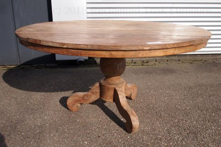 Round teak table Ø 150 cm reclaimed