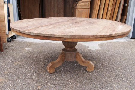 Round teak table Ø 180 cm reclaimed