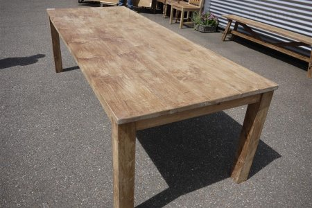 Teak table 260 x 100 cm