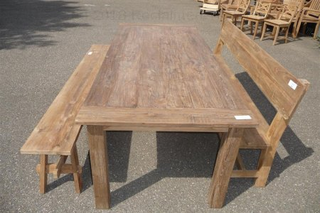 Teak table 240 x 100 cm reclaimed