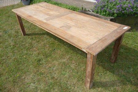 Teak table 260 x 100 cm reclaimed