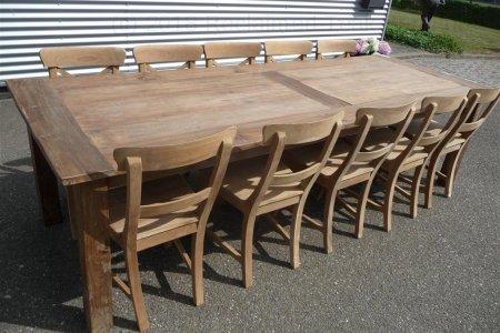 Teak table 280 x 100 cm reclaimed