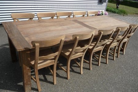 Teak table 280 x 100 cm reclaimed
