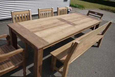 Teak garden table 260 x 100 cm