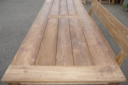 Teak garden table 280 x 100 cm