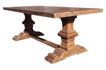 Teak refectory table 200x100cm