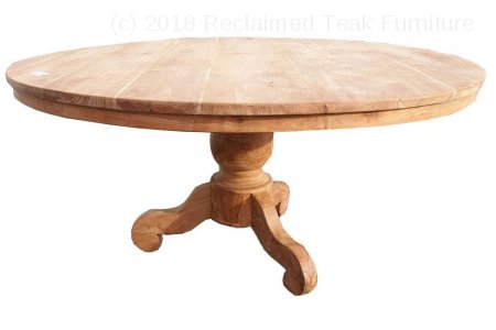 Round teak table Ø 160 cm