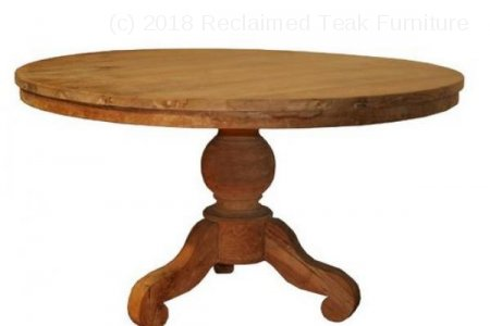 Round teak table Ø 120 cm