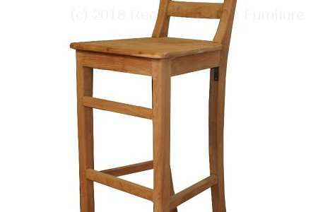 Teak bar stool Mariotto