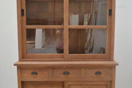 Teak display cabinet 120cm