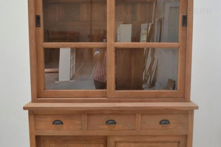 Teak Display Cabinet 120cm
