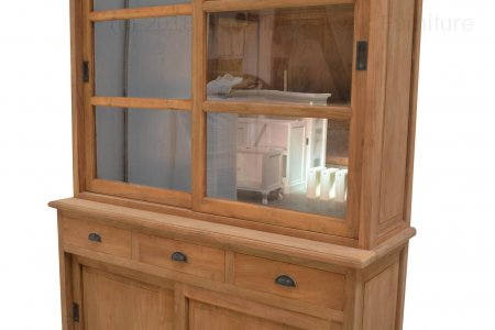 Teak display cabinet 140cm