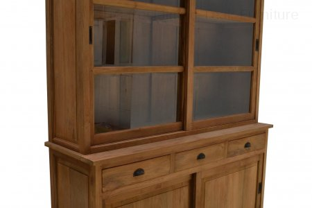 Teak display cabinet 160cm
