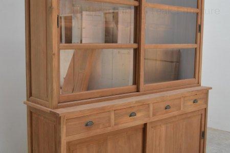 Teak display cabinet 180cm