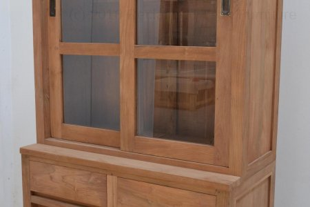 Teak display cabinet 100cm modern