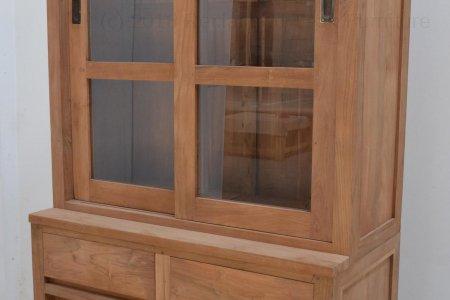 Teak display cabinet 100cm modern