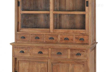 Teak cabinet old brushed