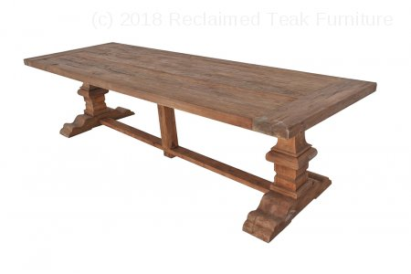 Teak refectory table 300x100cm